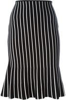 J.W.Anderson contrast stripe midi skirt