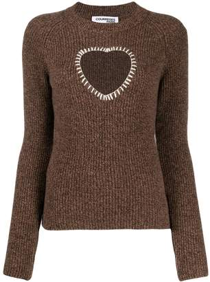 Courreges stitched heart jumper