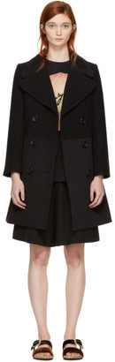 See by Chloe Black Wool City Coat