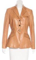 Ralph Lauren Long Sleeve Leather Blazer