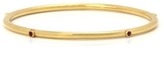Gold Bangle with Rubies