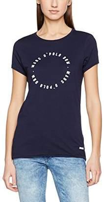 Marc O'Polo Denim Women's 743225951389 T-Shirt, (Pacific Blue 881)