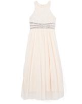 Speechless White Rhinestone Dress - Girls