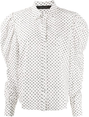 FEDERICA TOSI Dotted Puff-Sleeves Shirt