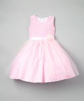 Pink Polka Dot A-Line Dress - Infant Toddler & Girls