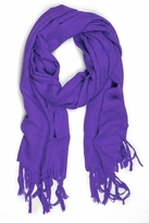 LoveQuotes Scarves Love Quotes Linen Knotted Fringe Scarf in Amethyst