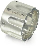 Forzieri Calibro12 Revolver Sterling Silver Ring w/Chain