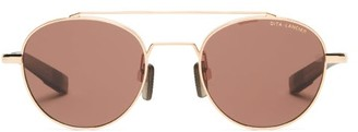 Dita Eyewear Lsa-400 Aviator Acetate Sunglasses - Mens - Gold