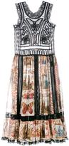 Valentino printed lace-trimmed dress