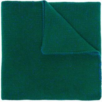 The Elder Statesman two-tone ribbed cashmere scarf