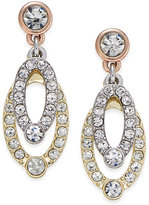 Charter Club Tri-Tone Crystal Drop Earrings, Only at Macy's