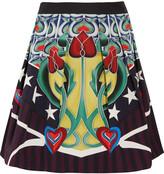 Mary Katrantzou Printed cotton-blend twill mini skirt