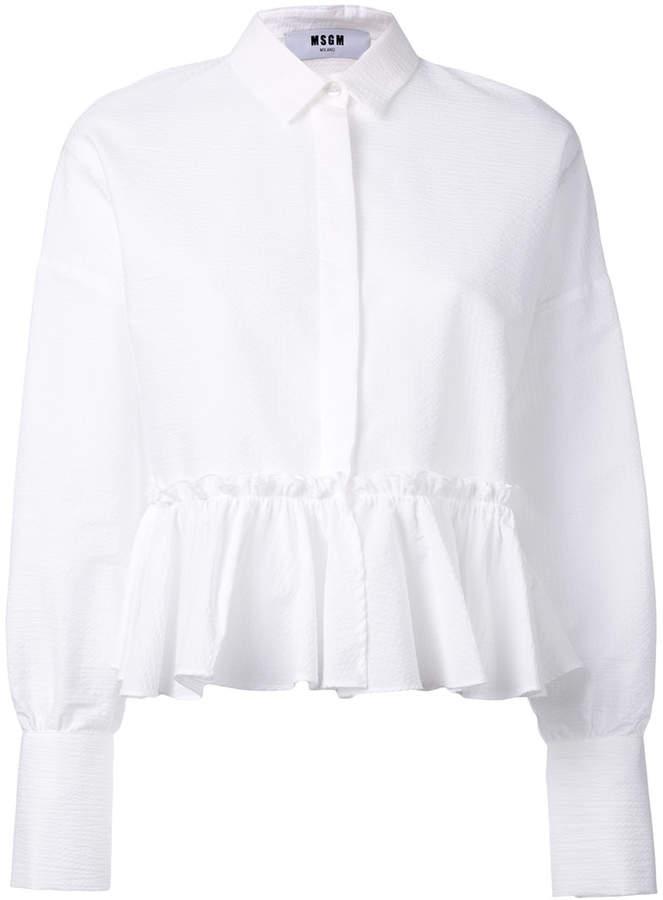 MSGM peplum hem blouse