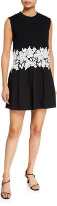Derek Lam 10 Crosby Lea Sleeveless Lace Trim Dress