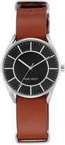 Nine West Women's Luggage Imitation Leather Strap Watch 36mm NW-1943BKHY