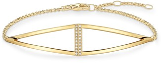 "Thomas Sabo Bracelet ""Triangle"" White Diamond of Adjustable 16.5-19.5cm"