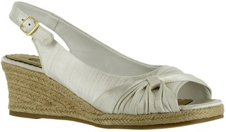 Bella Vita Slingback Wedge Espadrille Sandals -Sangria Too