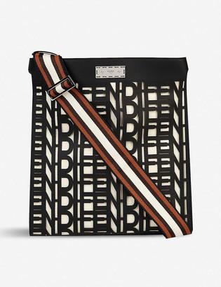 Fendi Peekaboo X-Lite logo-print leather tote bag