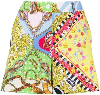 Boutique Moschino Baroque Print Shorts