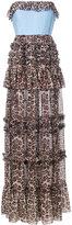 Brognano - leopard print strapless dress - women - Cotton/polyester - 44