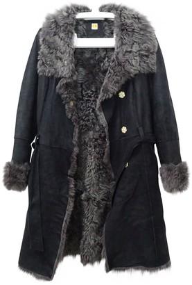 BOSS ORANGE Black Fur Coat for Women