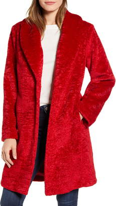 Rachel Parcell Faux Shearling Shawl Collar Coat