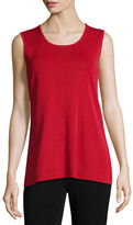 Misook Round-Neck Sleeveless Tank