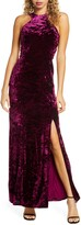 Morgan & Co. Cleo Strappy Back Velvet Gown