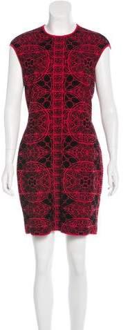 Alexander McQueen Sleeveless Patterned Dress