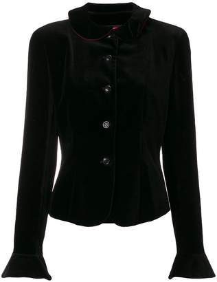 Kenzo Pre-Owned flared cuffs velvety jacket