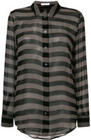 Equipment sheer striped shirt