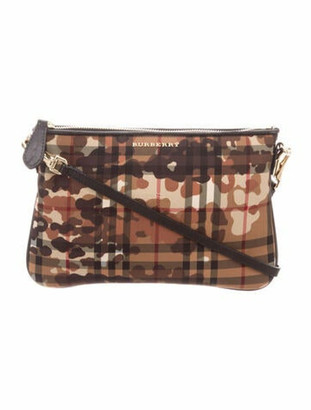 Burberry Horseferry Camo Peyton Crossbody Bag multicolor