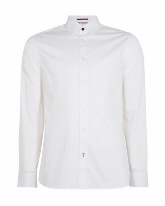 Ted Baker Bobcut Ls Satin Stretch Shirt