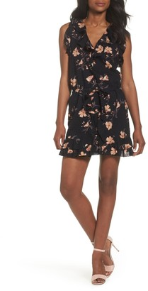 Paige Farfella Floral Print Ruffle Mini Dress
