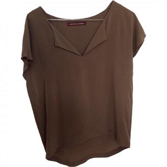 Comptoir des Cotonniers Khaki Silk Top for Women
