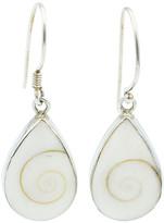 Exex Design Jewelry Sterling Silver Burgos Shell Teardrop Earrings