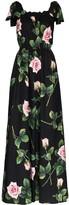 Dolce & Gabbana Floral-Print Cotton Jumpsuit