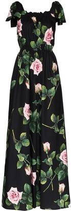 Dolce & Gabbana floral-print cotton maxi dress