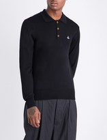 Vivienne Westwood Logo-embroidered wool polo shirt