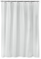 Threshold Shower Curtain - Embroidered White