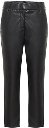 Velvet Hydie faux leather straight pants
