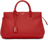 Saint Laurent Red Small Cabas Rive Gauche Tote