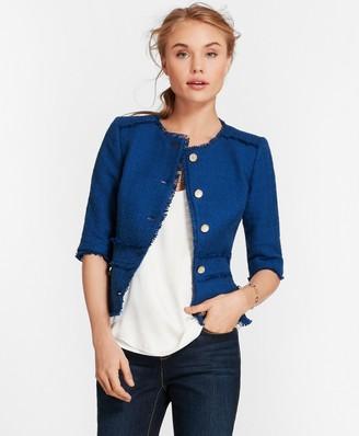 Brooks Brothers Cotton Boucle Elbow-Sleeve Jacket