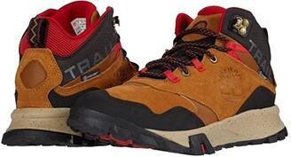 Timberland Garrison Trail Waterproof Mid Hiker (Medium Brown Suede) Men's Boots