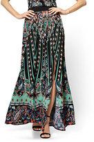 New York & Co. Maxi Skirt - Black Paisley - Petite