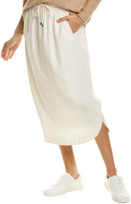 Three Dots Shirttail Midi Skirt