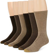 Gold Toe 6-pk. Mens Harrington Casual Crew Socks - Extended Size