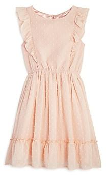 BCBG Girls BCBGirls Girls' Dot Ruffle Chiffon Dress - Little Kid