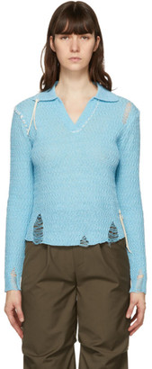 ANDERSSON BELL Blue Erica Long Sleeve Polo