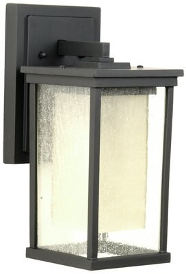 Breakwater Bay Frederica 1-Light Outdoor Wall Lantern Size: 13.75'' H x 6.25'' W x 7.13'' D, Bulb Type: Incandescent